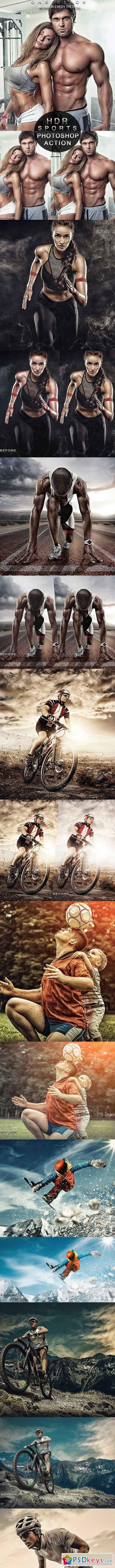 PRO Sports Photoshop Action 23035345