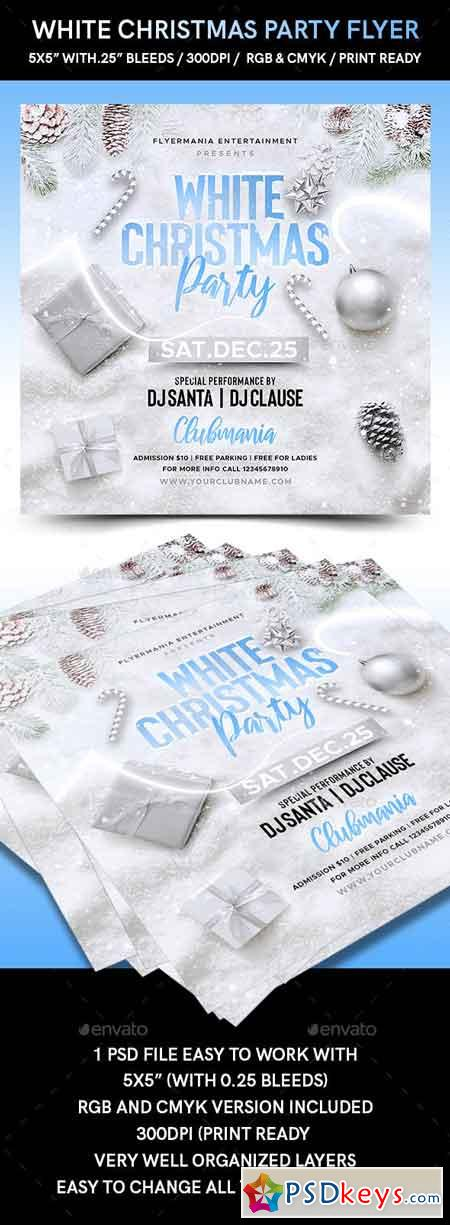White Christmas Party Flyer 22994409