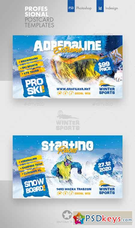 Winter Adventure Busines Card Templates 22994222