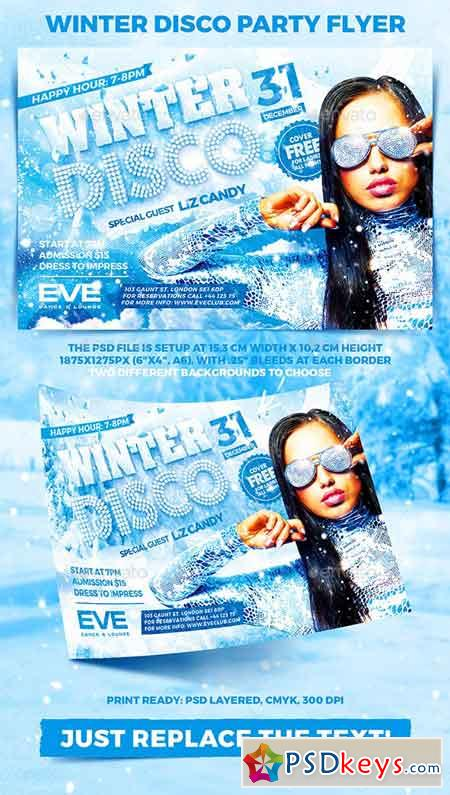 Winter Disco Party Flyer 22998948