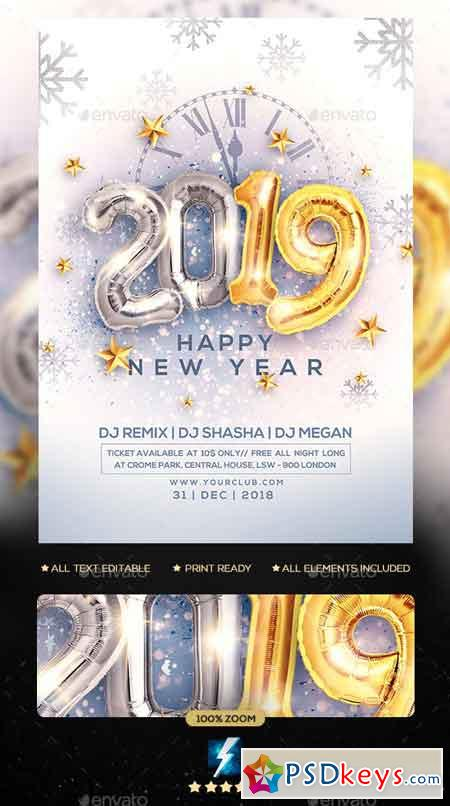 New Year Party Flyer 23040197