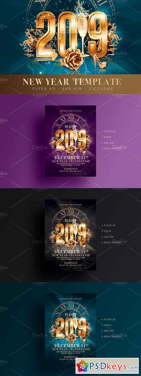 New Year Party Flyer 3215360