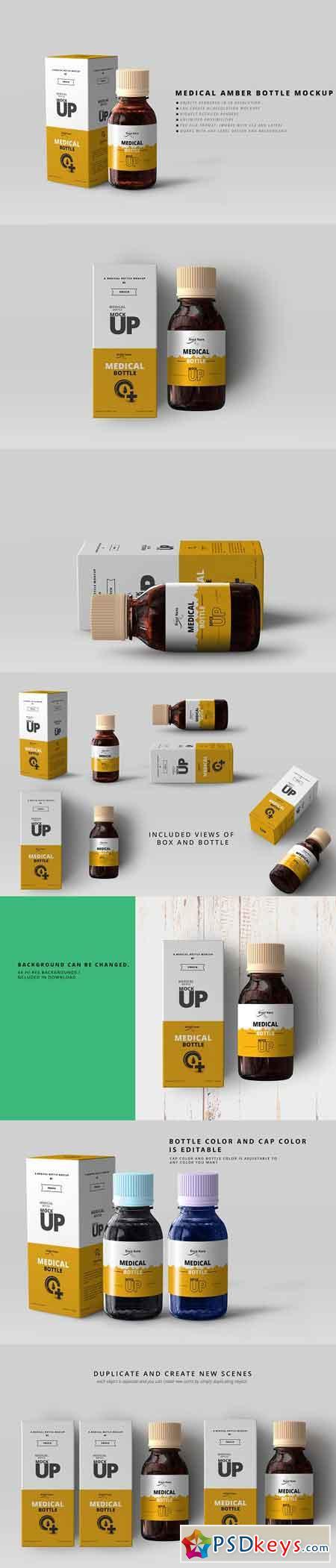Amber Medicine Bottle Mockups 3035951