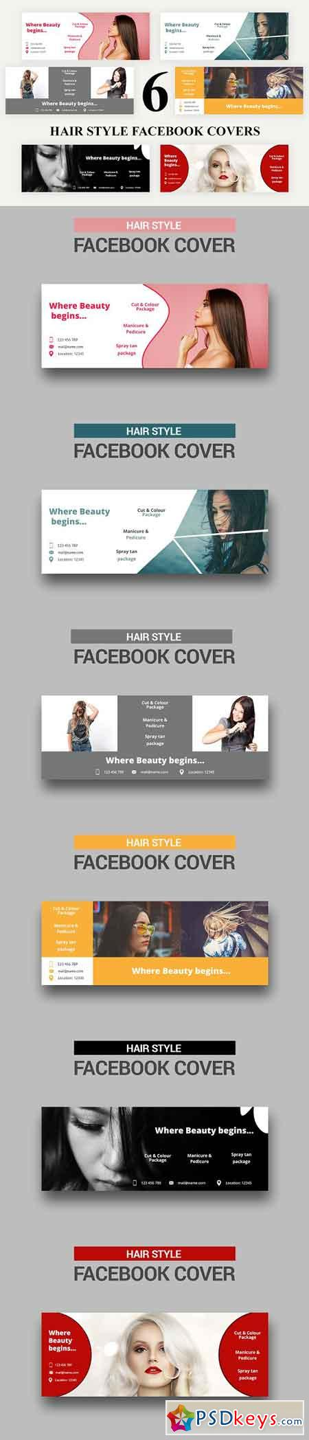 Hair Style Facebook Covers - SK 3035698