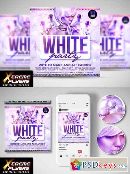 White Party Flyer 3012038