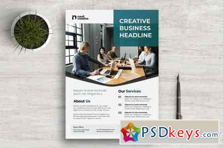 Corporate Business Flyer PSD and Vector Vol.1