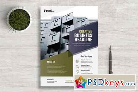Corporate Business Flyer PSD and Vector Vol.3