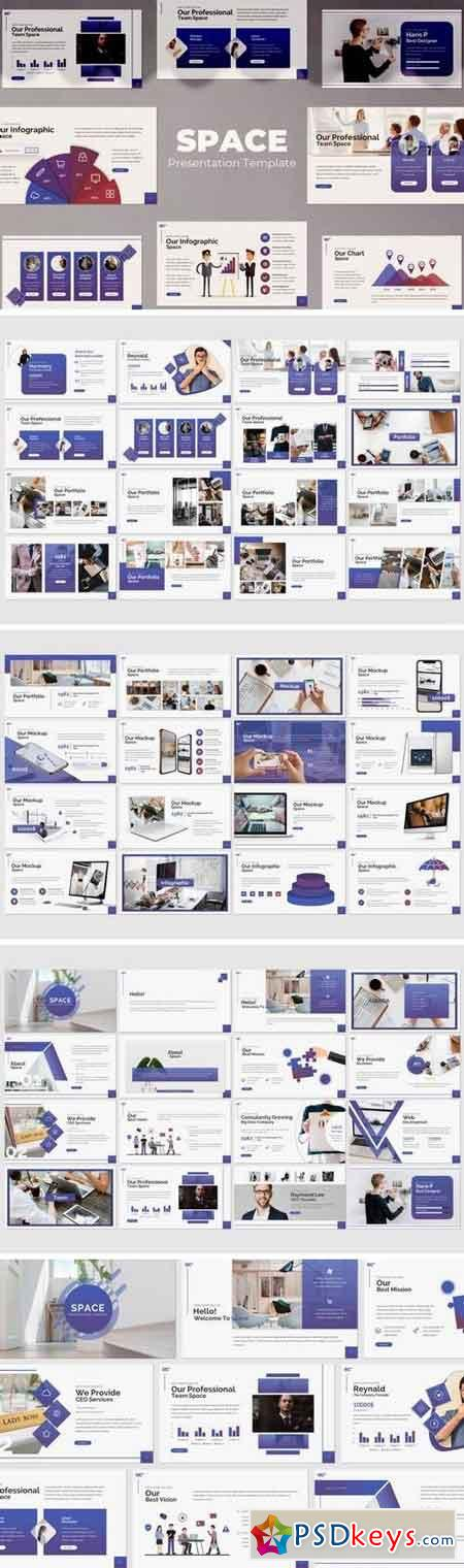 Space - Powerpoint, Keynote, Google Sliders Templates
