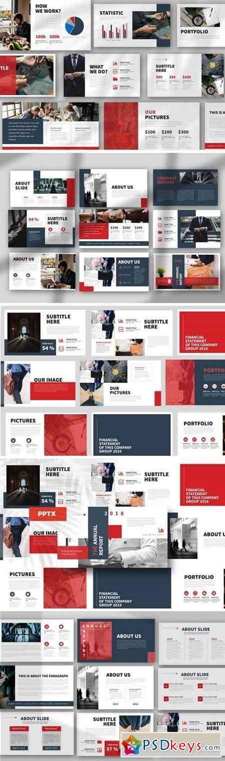 Report - Powerpoint, Keynote, Google Sliders Templates