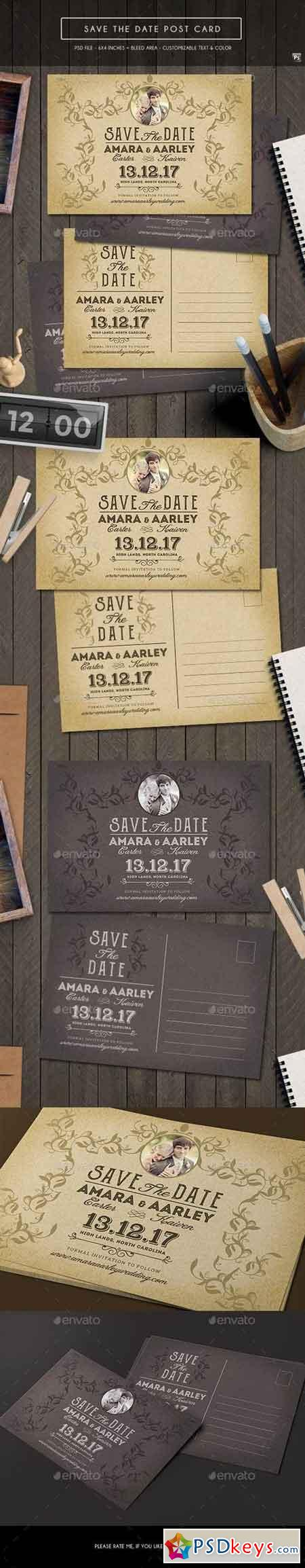 Vintage Save the Date Post Card 19193164