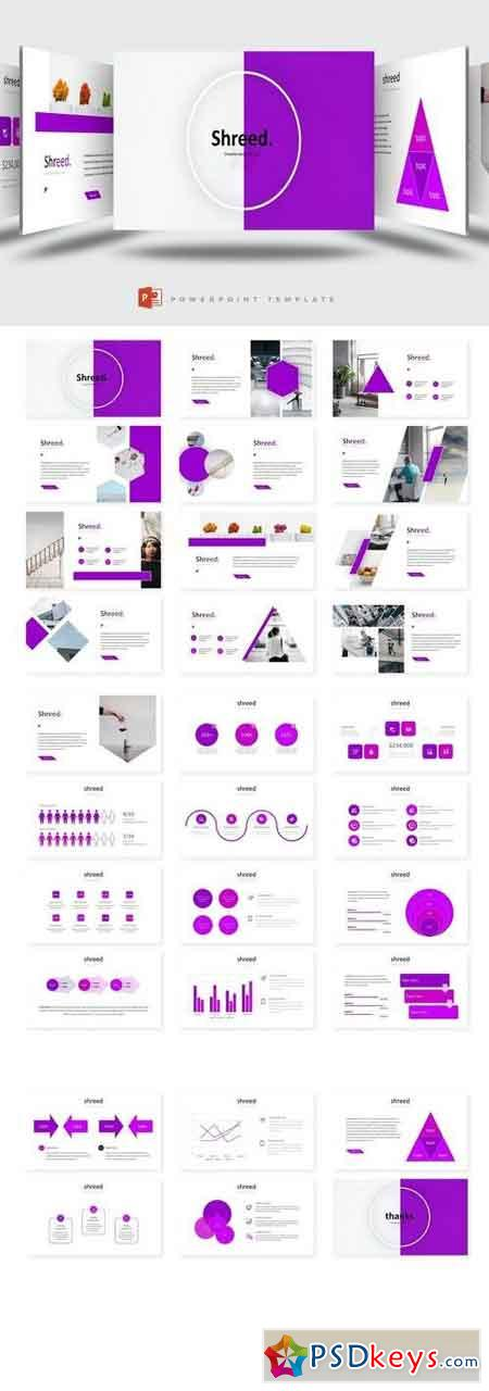 Shreed - Powerpoint, Keynote, Google Sliders Templates