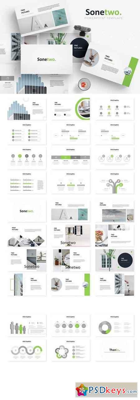 Sonetwo - Powerpoint, Keynote, Google Sliders Templates