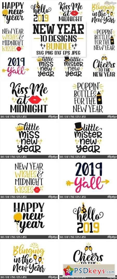 New Year's Eve SVG Bundle 837175