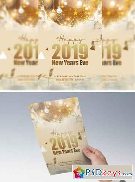 New Year Flyer gold 845677
