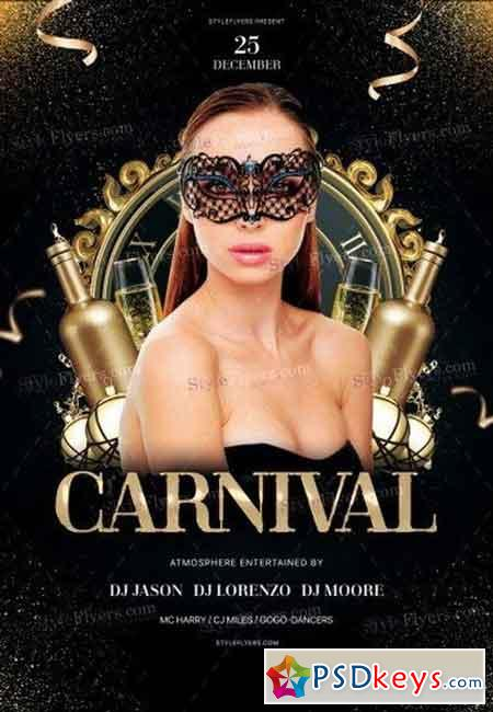 Carnival PSD Flyer Template 2