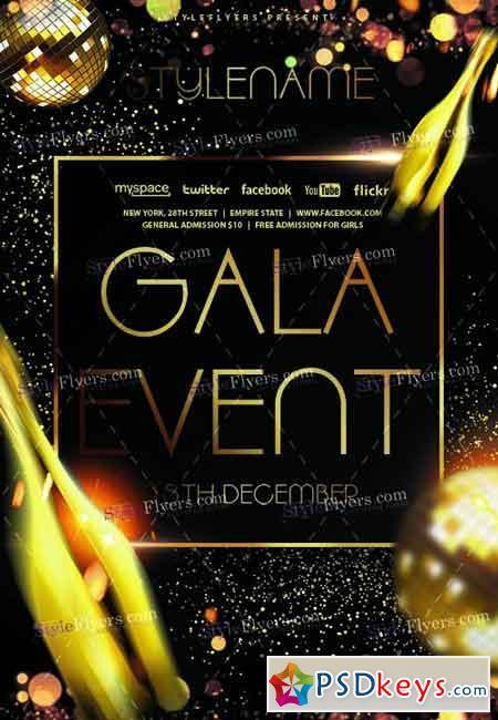 Gala Event PSD Flyer Template