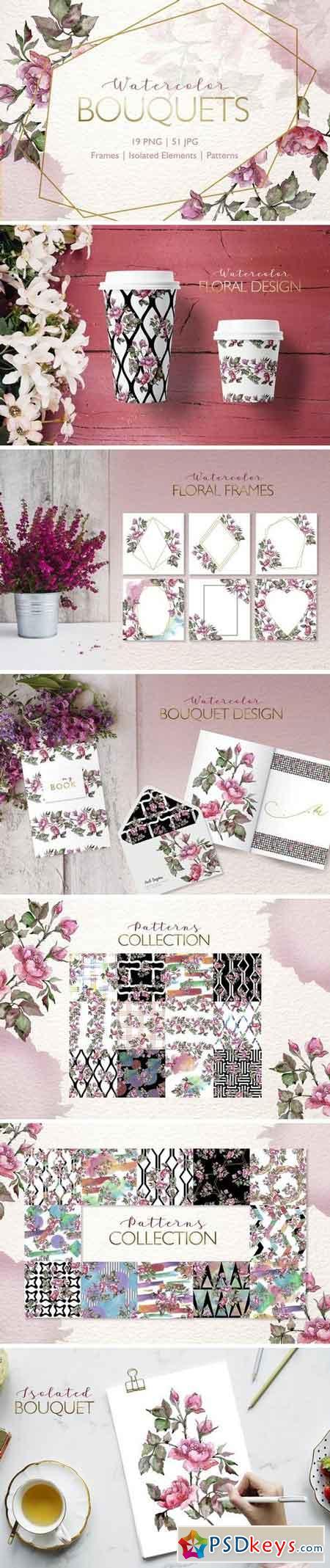 Bouquets Watercolor png 3307805
