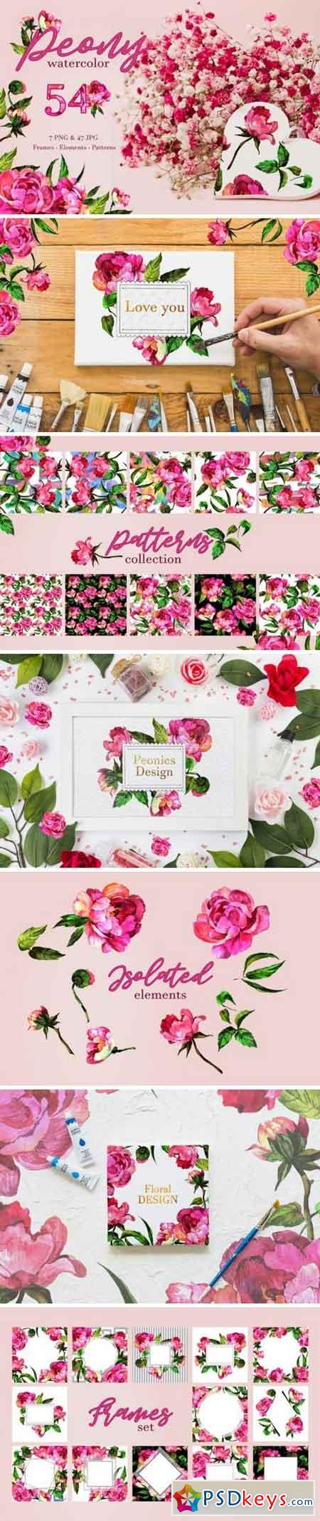Peony Watercolor png 3307818