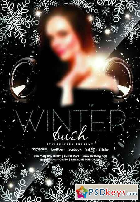 Winter Bush PSD Flyer Template
