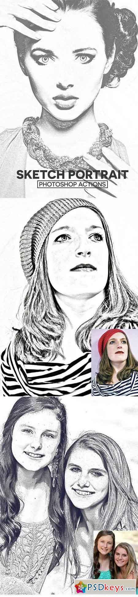 Sketch Portrait Photoshop Actions