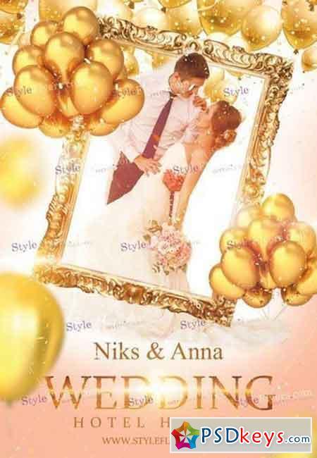 Wedding Day PSD Flyer Template 8