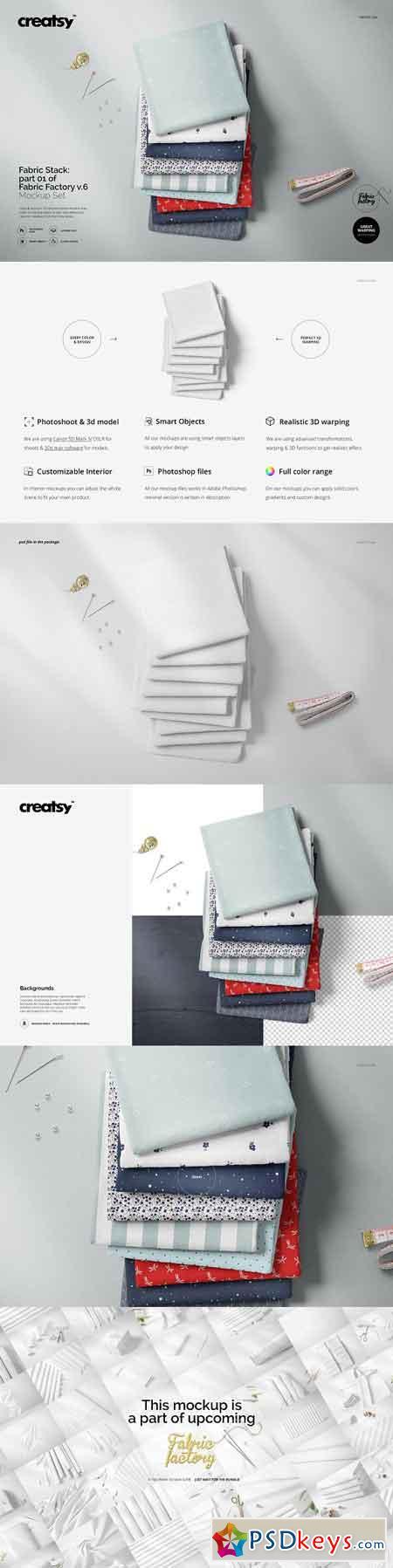 Fabric Stack Mockup 01 FF v 6 3273251
