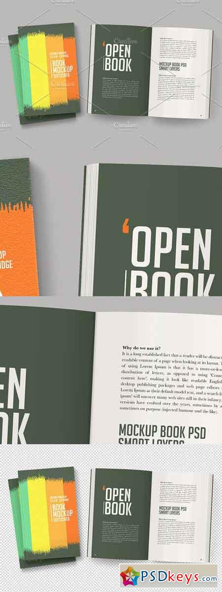 Open Softcover Book Mockup 3291159