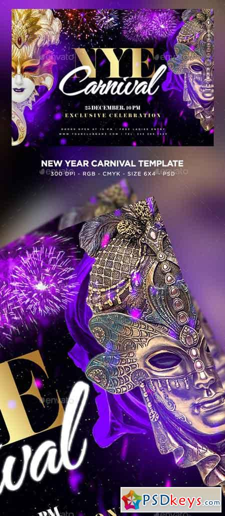 New Year Carnival Flyer 23002025