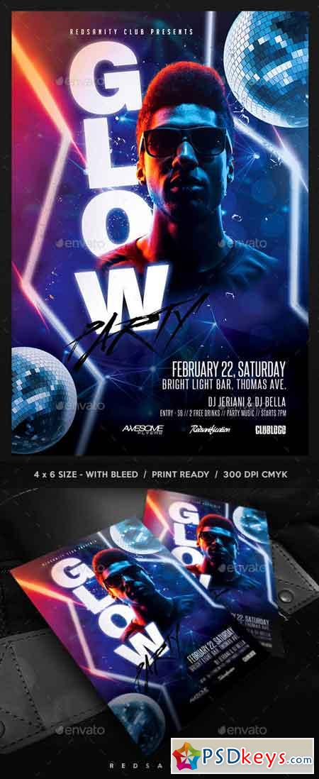 Glow Party Flyer 22968050