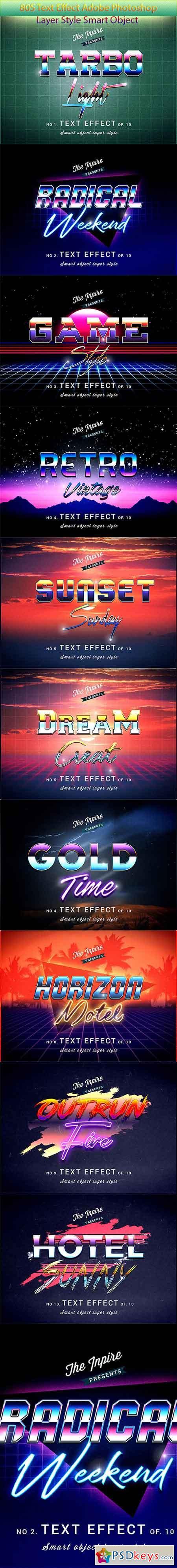 80s Text Effects Bundle 23044555