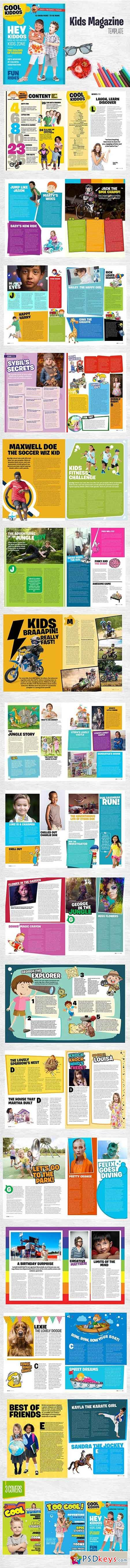 Kids Magazine Template 3152872