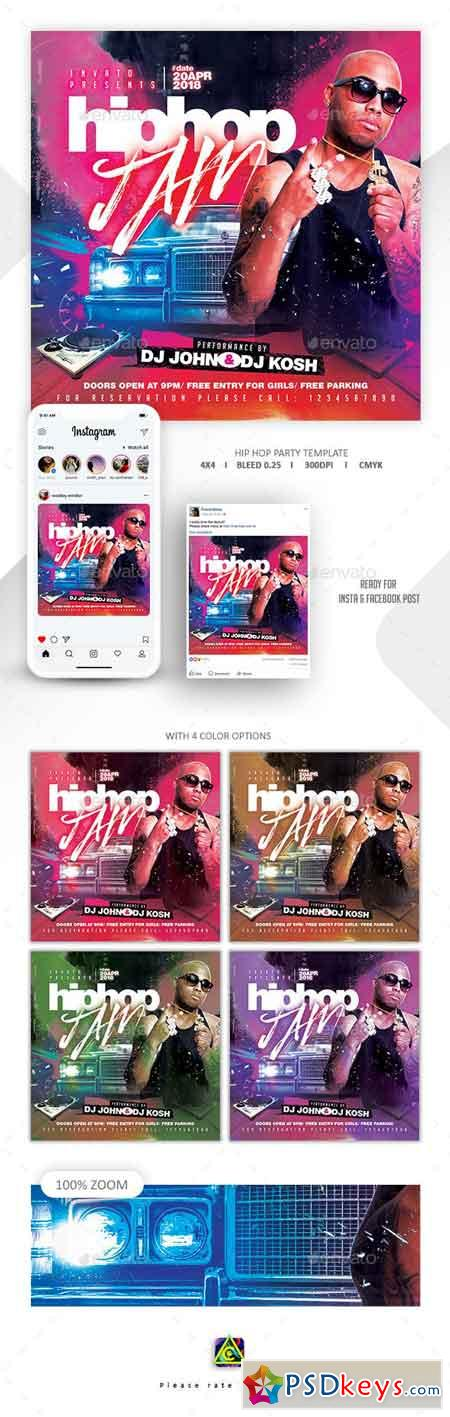 Hip Hop Flyer Template 22946804