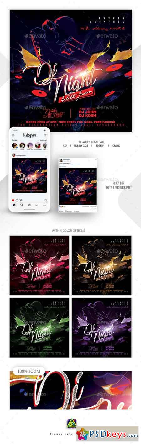Dj Tour Flyer Template 22954086
