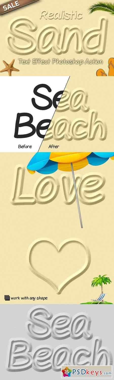 Sand Text Effect Photoshop Action 3237093