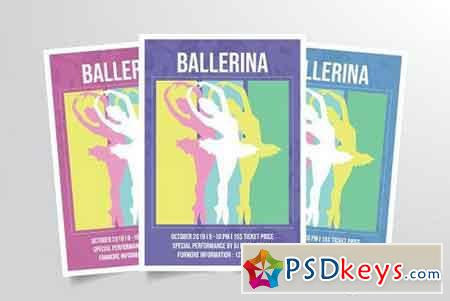 Ballet Dance Flyer Template Vol. 2 3314788