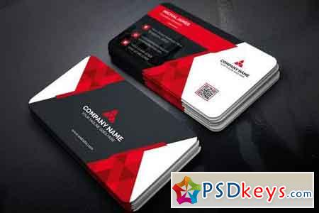Business Card Red Back