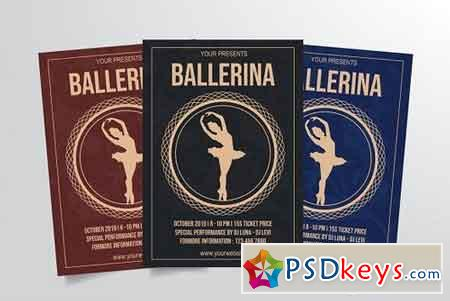 Ballet Dance Flyer Template Vol. 1 3314783
