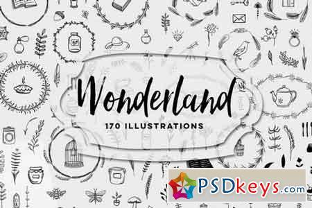 170 Wonderland Illustrations