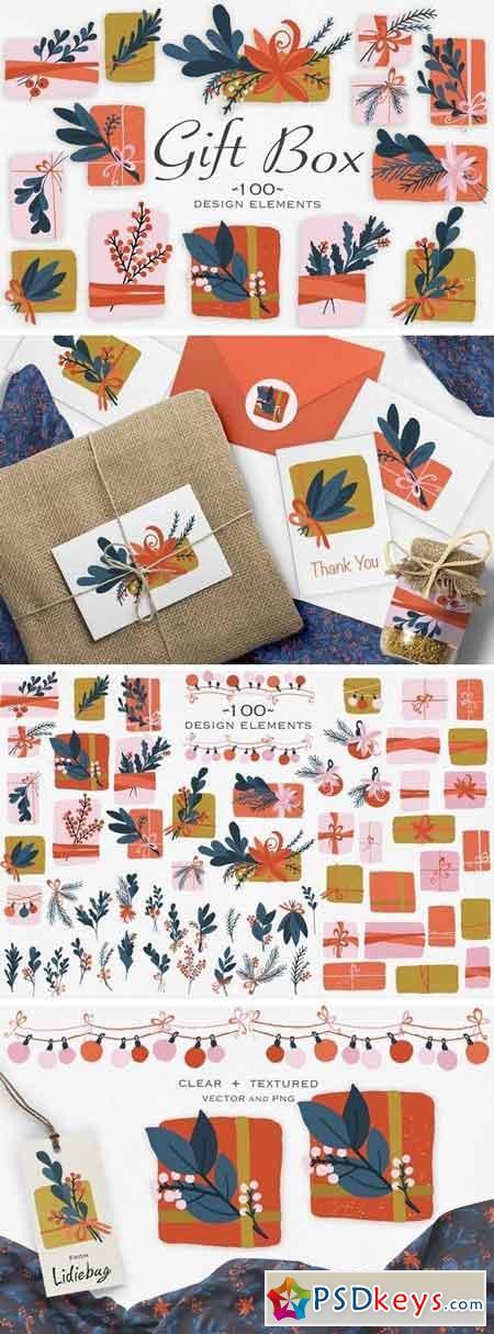 Gift Box Design Elements 3280732