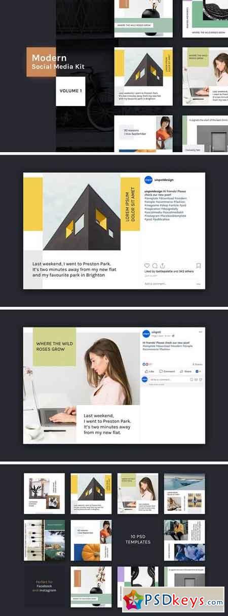 Modern Social Media Kit (Vol. 1)