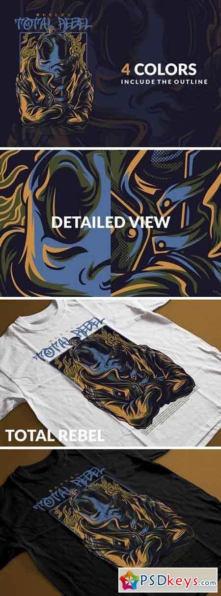Total Rebel T-Shirt Design Template