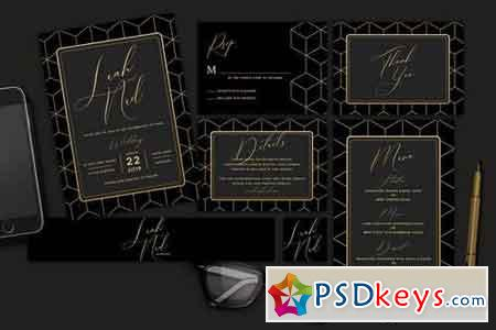 Geometric Wedding Invitation 3