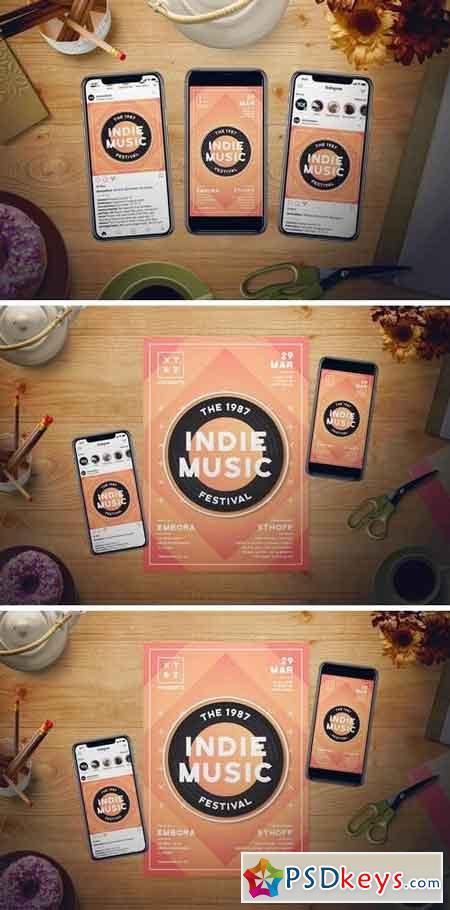 Indie Music Flyer Set