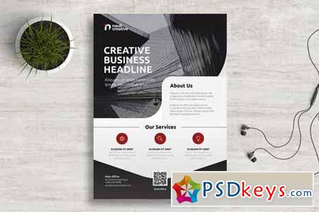 Corporate Business Flyer PSD and Vector Vol.5
