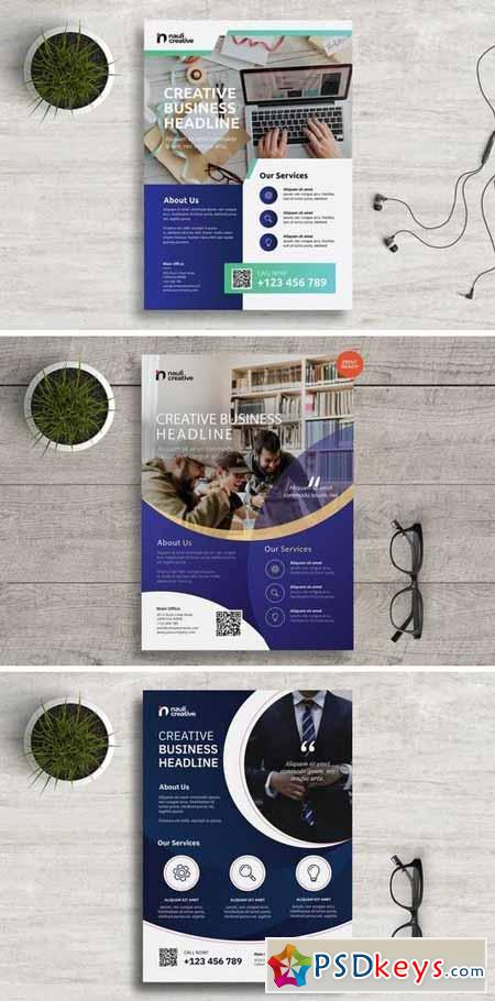 Corporate Business Flyer PSD and Vector Bundle