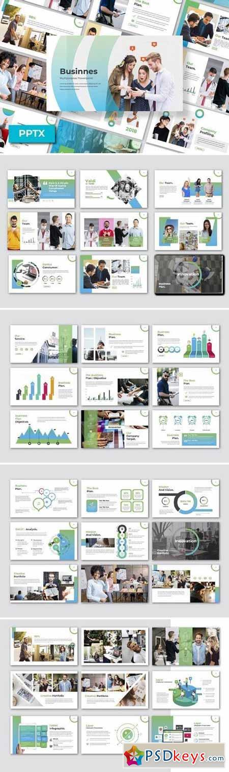 Business - Powerpoint, Keynote, Google Sliders Templates