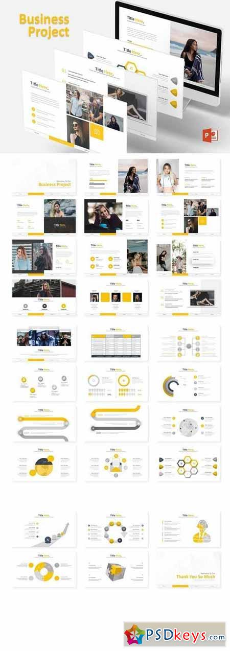 Business Project - Powerpoint, Keynote, Google Sliders Templates