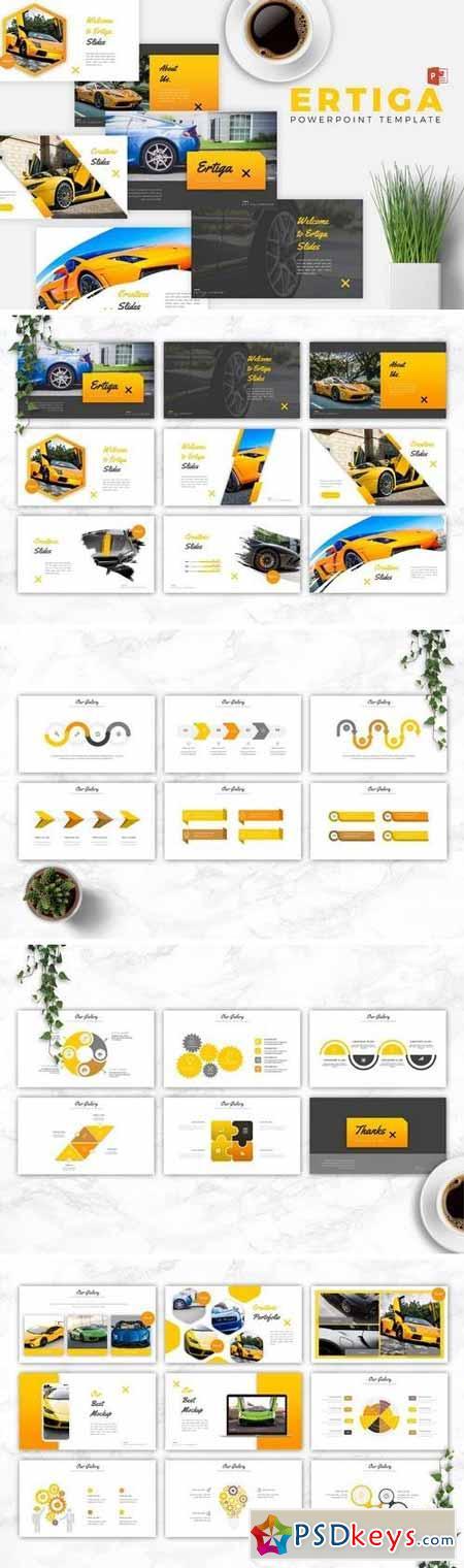 ERTIGA - Powerpoint, Keynote, Google Sliders Templates