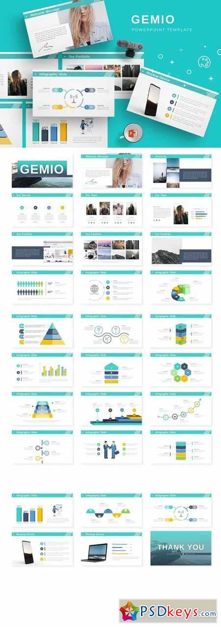 Gemio - Powerpoint, Keynote, Google Sliders Templates