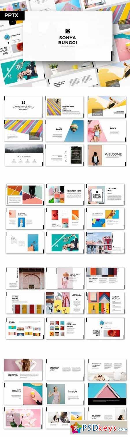 Sonya Bunggi - Powerpoint, Keynote, Google Sliders Templates